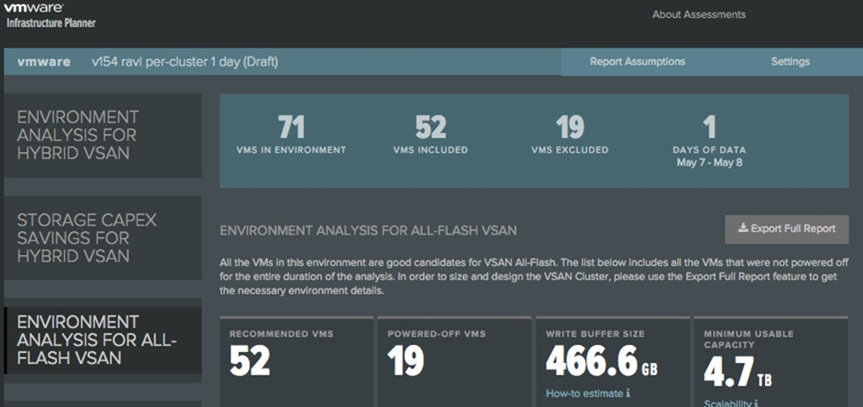 VSAN Assessment Results3